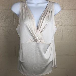 Ann Taylor Women's Blouse Size L White TR4